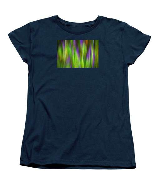 Purple Sage Digital Abstracts Motion Blur Women's T-Shirt (Standard Cut) by Rich Franco