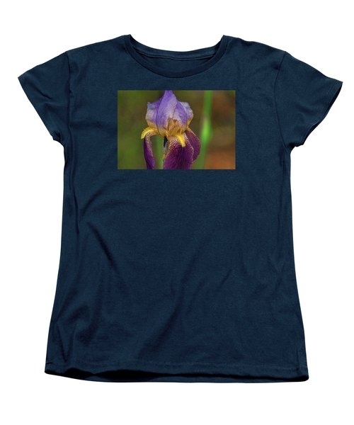 Purplish Iris Women's T-Shirt (Standard Cut) by Rick Friedle