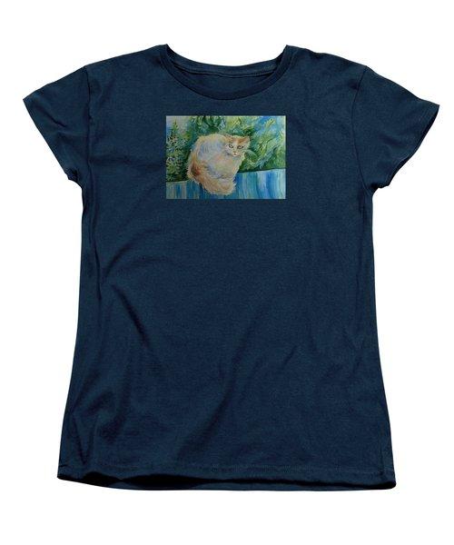 Puss Women's T-Shirt (Standard Cut) by Anna  Duyunova