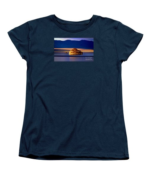 Women's T-Shirt (Standard Cut) featuring the photograph Pyramid Lake Nevada by Irina Hays