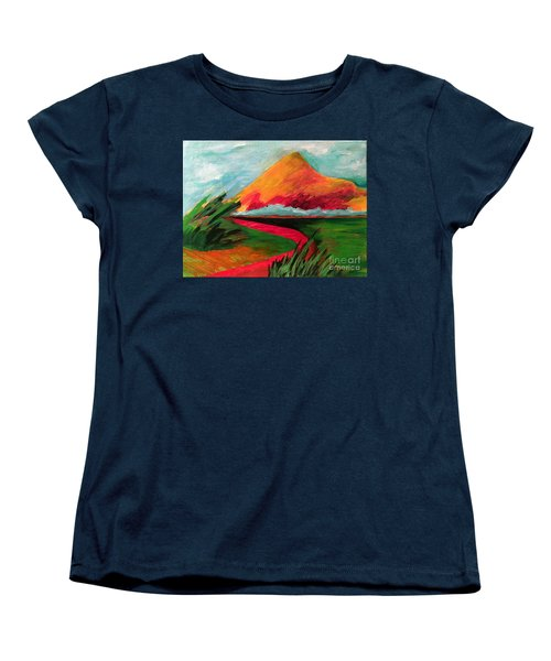 Pyramid Mountain Women's T-Shirt (Standard Cut) by Elizabeth Fontaine-Barr