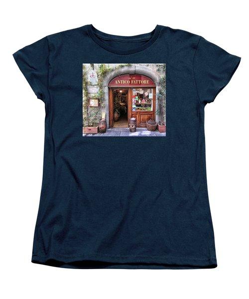Quaint Restaurant In Florence Women's T-Shirt (Standard Cut) by Dave Mills