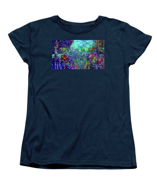Women's T-Shirt (Standard Cut) featuring the digital art Qualia's Reef by Russell Kightley