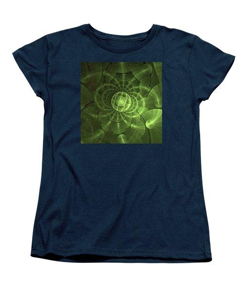 Women's T-Shirt (Standard Cut) featuring the digital art Quantum Plasma Signature by Lea Wiggins