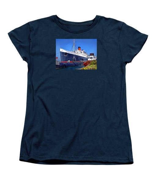 Women's T-Shirt (Standard Cut) featuring the photograph Queen Mary Ship by Mariola Bitner