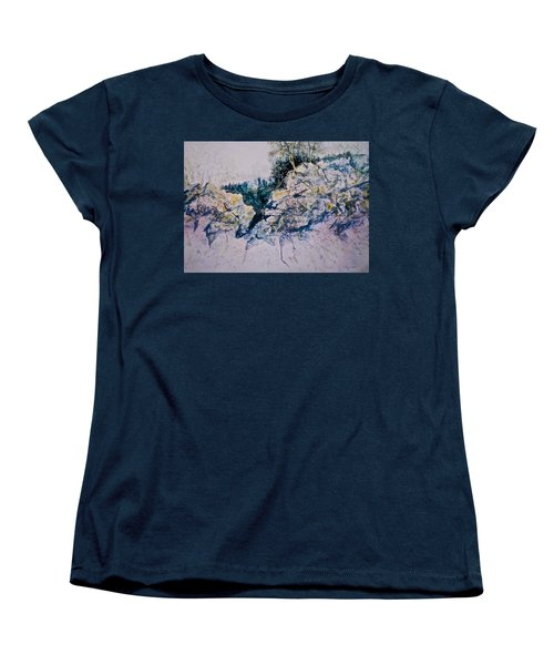 Women's T-Shirt (Standard Cut) featuring the painting Quiet Journey by Carolyn Rosenberger