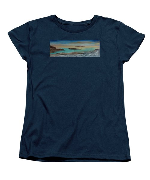 Women's T-Shirt (Standard Cut) featuring the painting Quiet Tropical Waters by Rod Jellison