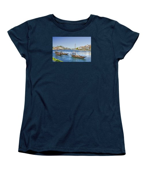 Women's T-Shirt (Standard Cut) featuring the photograph Rabelos On The Douro by Brian Tarr