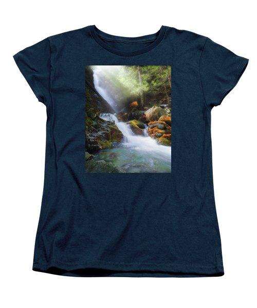 Women's T-Shirt (Standard Cut) featuring the photograph Race Brook Falls 2017 by Bill Wakeley