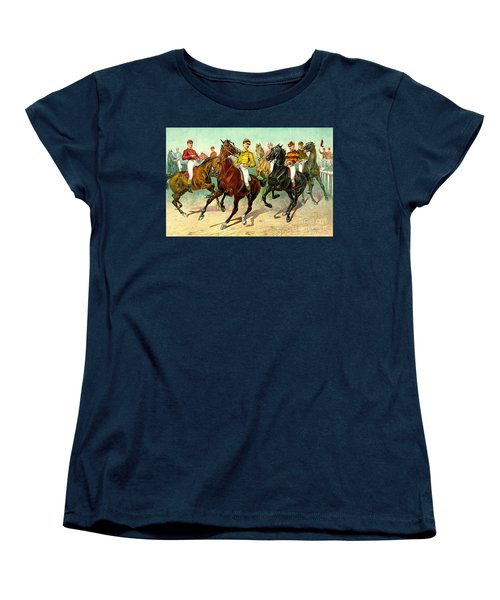 Racehorses 1893 Women's T-Shirt (Standard Cut) by Padre Art