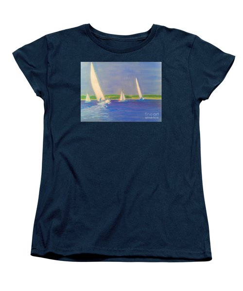 Racing Off Chester Women's T-Shirt (Standard Cut) by Rae  Smith