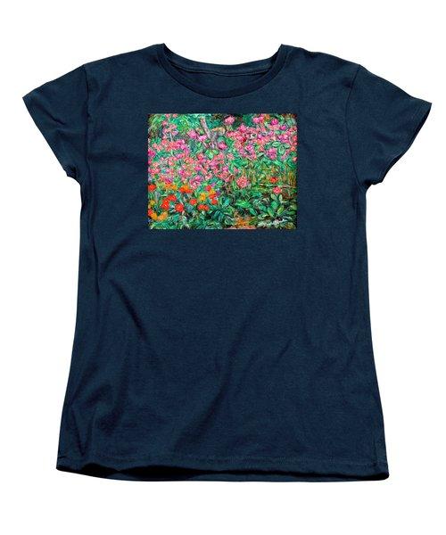 Radford Flower Garden Women's T-Shirt (Standard Cut) by Kendall Kessler