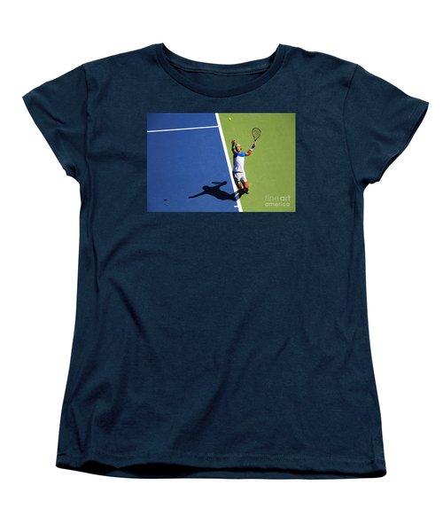 Rafeal Nadal Tennis Serve Women's T-Shirt (Standard Cut) by Nishanth Gopinathan