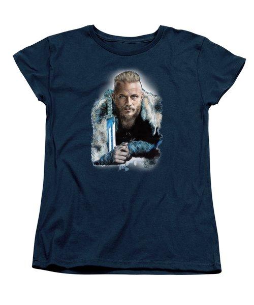 Ragnar Lothbrok Women's T-Shirt (Standard Cut) by Melanie D