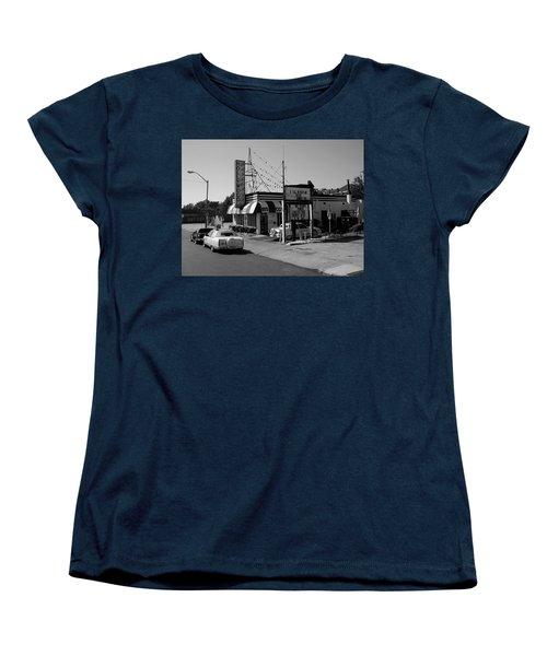 Women's T-Shirt (Standard Cut) featuring the photograph Raifords Disco Memphis B Bw by Mark Czerniec