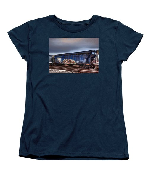 Women's T-Shirt (Standard Cut) featuring the photograph Rail Art by Robert Pearson