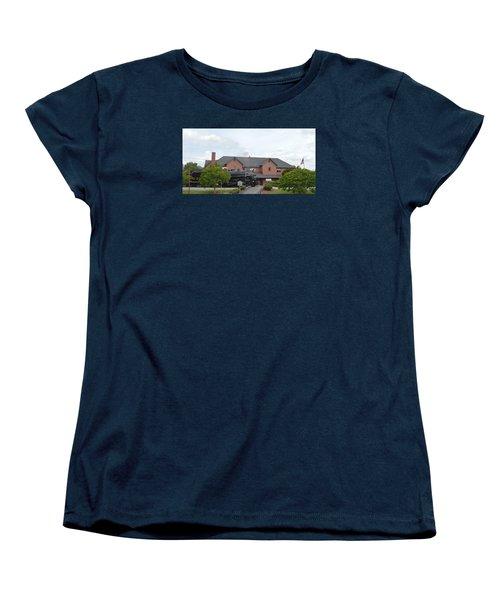 Railroad Depot Women's T-Shirt (Standard Cut) by Linda Geiger