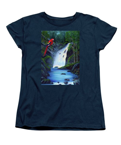 Rain Forest Macaws Women's T-Shirt (Standard Cut) by Stanton Allaben