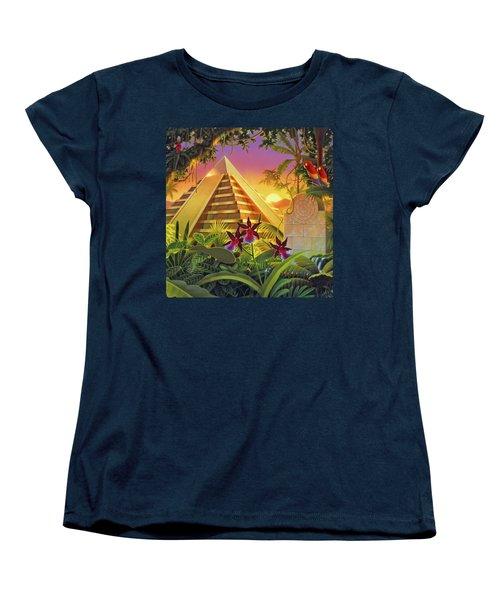 Rain Forest Pyramid  Women's T-Shirt (Standard Cut) by Robin Moline