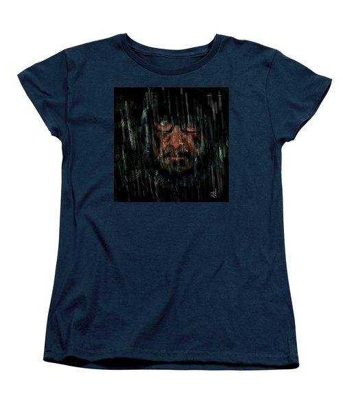 Women's T-Shirt (Standard Cut) featuring the painting Rain Nor Sleet Nor Snow by Jim Vance