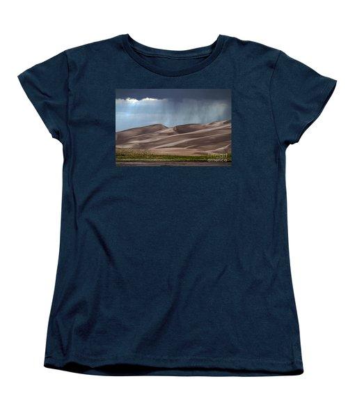 Rain On The Great Sand Dunes Women's T-Shirt (Standard Cut) by Catherine Sherman