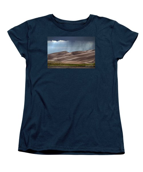 Rain On The Great Sand Dunes Women's T-Shirt (Standard Cut)