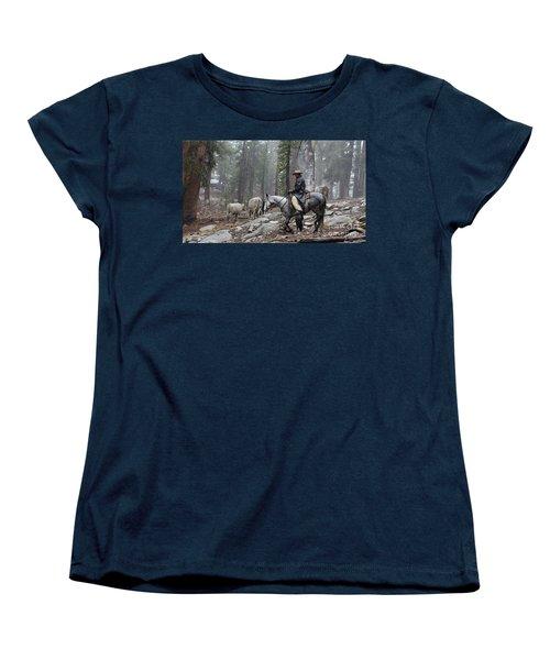 Rain Riding Women's T-Shirt (Standard Cut) by Diane Bohna