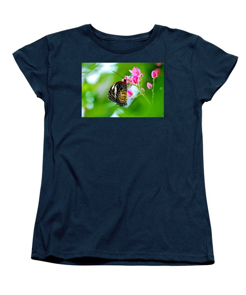 Women's T-Shirt (Standard Cut) featuring the photograph Rainbow Butterfly by Peggy Franz