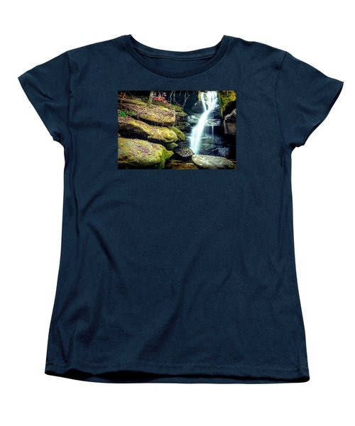 Women's T-Shirt (Standard Cut) featuring the photograph Rainbow Falls At Dismals Canyon by David Morefield