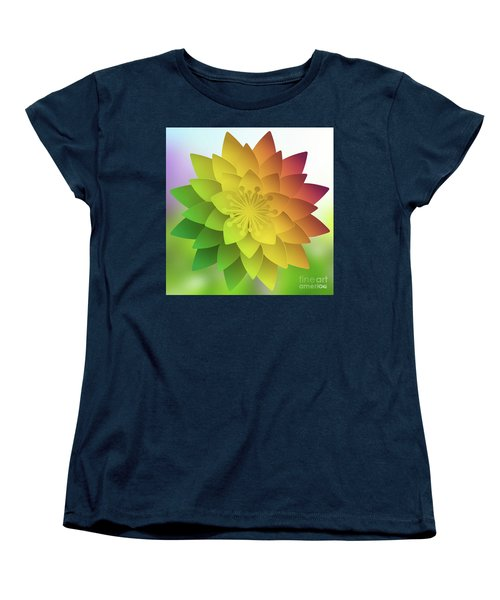 Rainbow Lotus Women's T-Shirt (Standard Cut) by Mo T