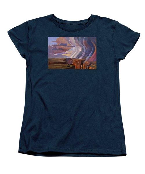 Rainbow Of Rain Women's T-Shirt (Standard Cut) by Art James West