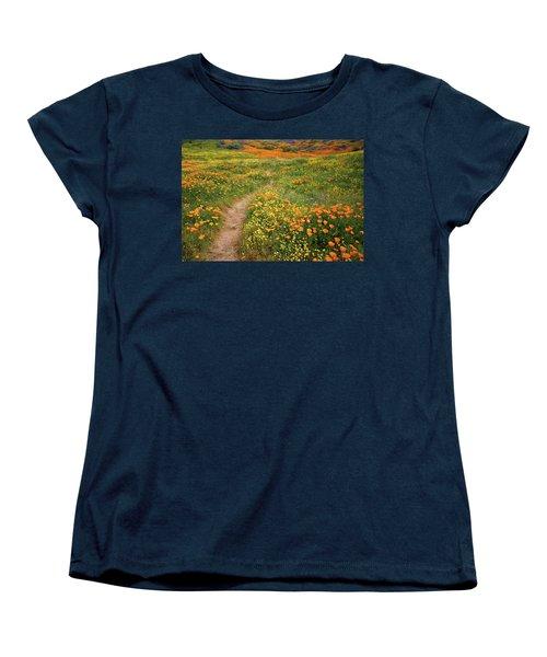Rainbow Of Wildflowers Bloom Near Diamond Lake In California Women's T-Shirt (Standard Cut) by Jetson Nguyen