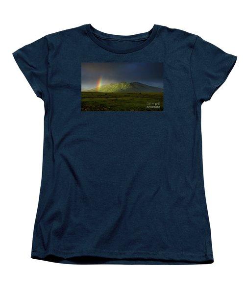 Rainbow Over Mount Ara After Storm, Armenia Women's T-Shirt (Standard Cut) by Gurgen Bakhshetsyan
