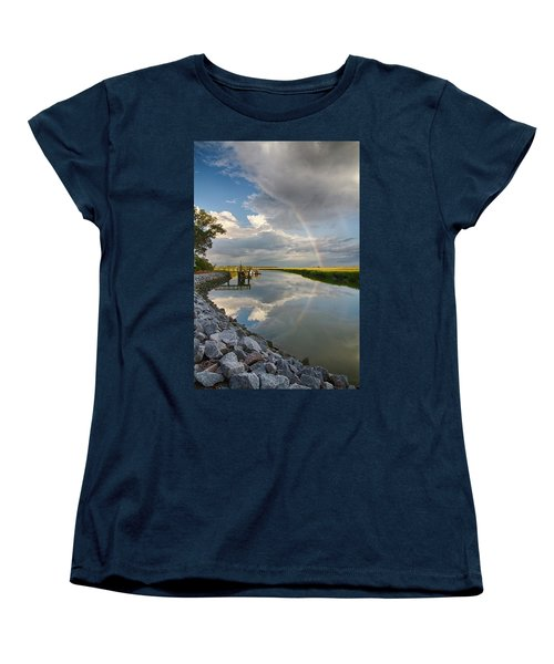 Women's T-Shirt (Standard Cut) featuring the photograph Rainbow Reflection by Patricia Schaefer