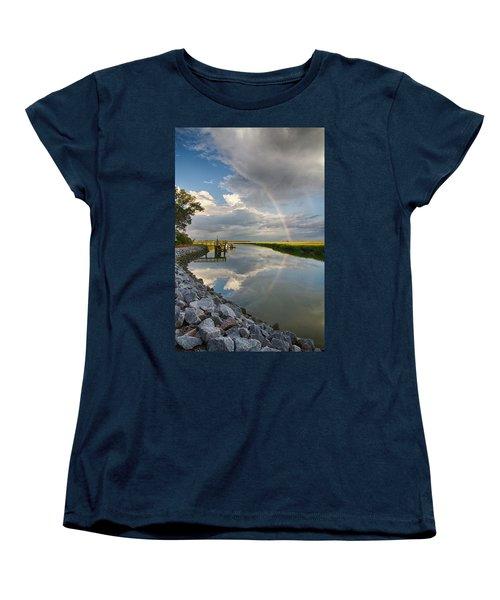 Rainbow Reflection Women's T-Shirt (Standard Cut) by Patricia Schaefer