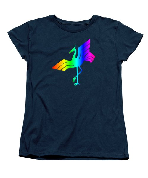 Rainbow Stork Women's T-Shirt (Standard Cut) by Frederick Holiday