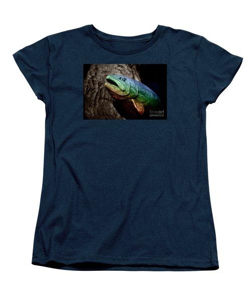Rainbow Trout Wood Sculpture Women's T-Shirt (Standard Cut) by John Stephens