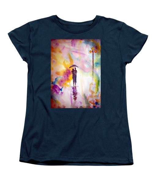 Rainbow Walk Of Love Women's T-Shirt (Standard Cut) by Raymond Doward