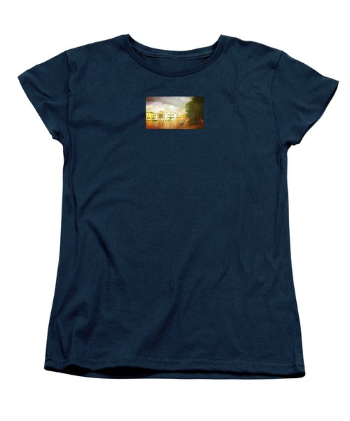 Women's T-Shirt (Standard Cut) featuring the photograph Raincloud Over Malamocco by Anne Kotan