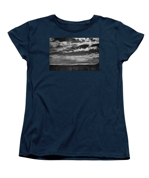 Women's T-Shirt (Standard Cut) featuring the photograph Raining At Yellowstone Lake by Jason Moynihan