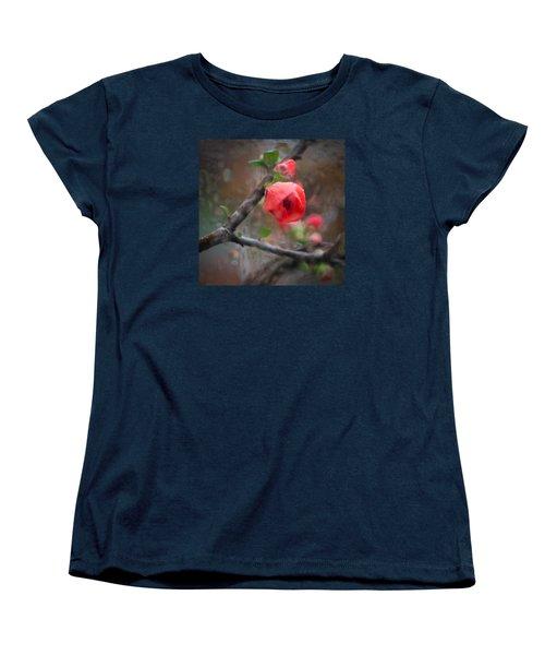 Raining Day Blossom  Women's T-Shirt (Standard Cut) by Catherine Lau