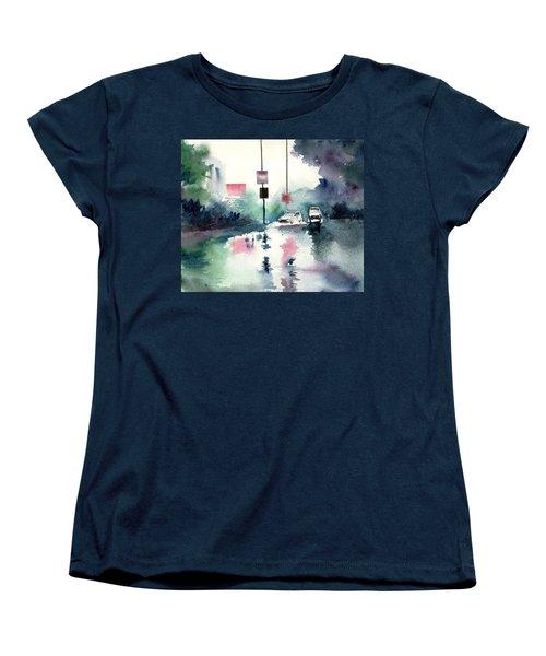 Rainy Day Women's T-Shirt (Standard Cut) by Anil Nene