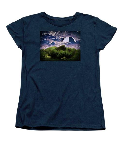 Rainy Summer Day Women's T-Shirt (Standard Cut) by Mihaela Pater