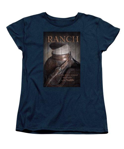 Women's T-Shirt (Standard Cut) featuring the photograph Ranch by Robin-Lee Vieira