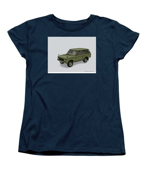 Women's T-Shirt (Standard Cut) featuring the mixed media Range Rover Classical 1970 by TortureLord Art