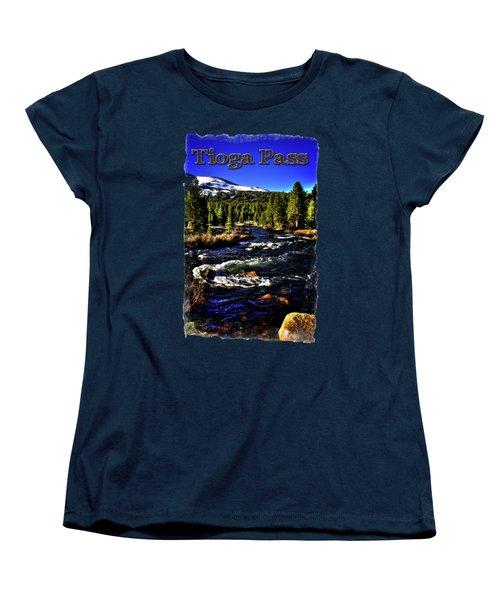 Rapids Along The Tioga Pass Road Women's T-Shirt (Standard Cut) by Roger Passman
