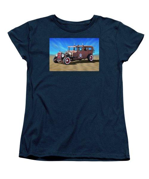 Women's T-Shirt (Standard Cut) featuring the photograph Rat Rod On Beach 3 by Mike McGlothlen