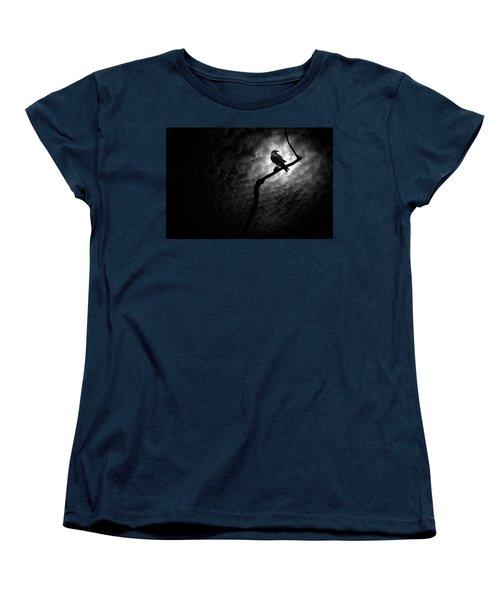 Raven, Death Valley Women's T-Shirt (Standard Cut) by Marius Sipa