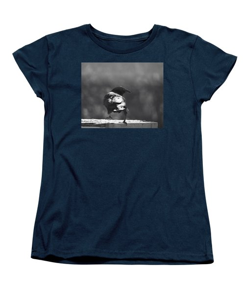 Women's T-Shirt (Standard Cut) featuring the photograph Raven In The Sun by Susan Capuano