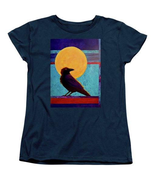 Raven Moon Women's T-Shirt (Standard Cut) by Nancy Jolley